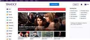 login yahoo homepage