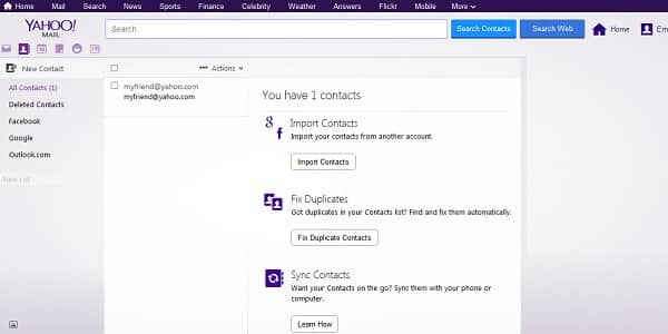 how to send email to all contacts yahoo