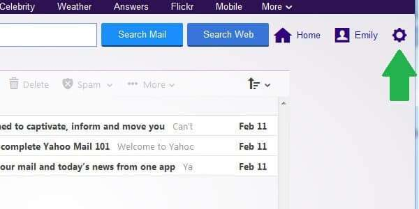 yahoo email forwarding inbox settings
