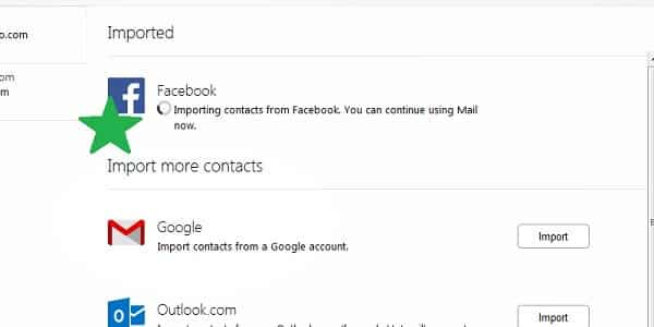 yahoo importing contacts