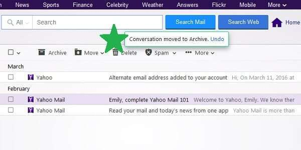 yahoo message archived