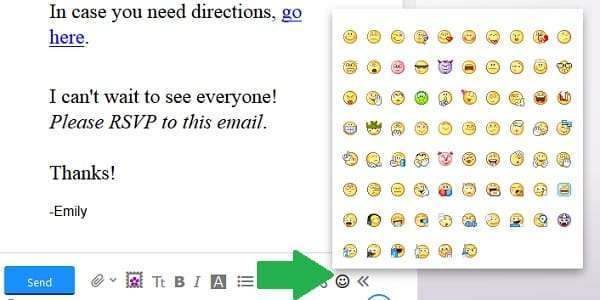 yahoo email smiley faces
