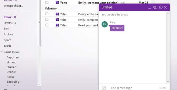 yahoo messenger message sent