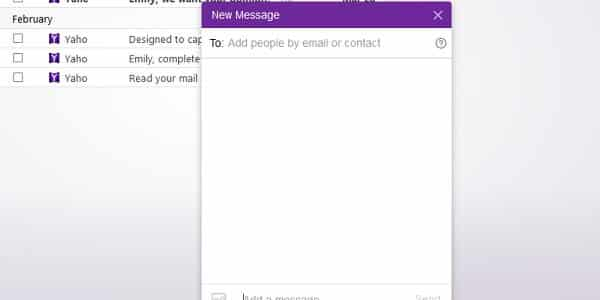 yahoo messenger new message
