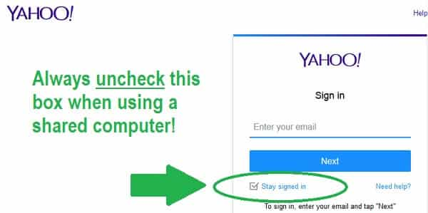 yahoo security tips sign in