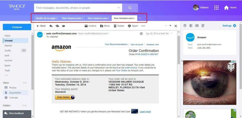 Yahoo! progresses on its new interface, although contacts